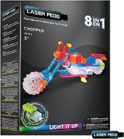 Blocos de Montar Laser Pegs Motocicleta 8 em 1ZippyDo Branco