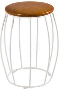Seat Garden Elite Base Branca Caramelo Shine 40 cm - 39919 Sun House