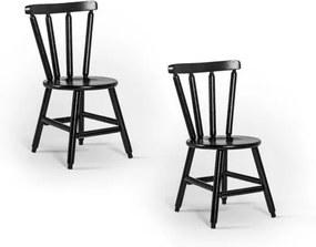 Kit 2 Cadeiras França com Assento Redondo em Madeira de Eucalipto - Tabaco