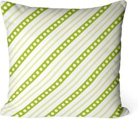 Capa de Almofada Love Decor Avulsa Decorativa Listras Verdes