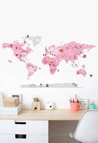 Adesivo Decorativo Stixx Mundo Discovery Girl Rosa