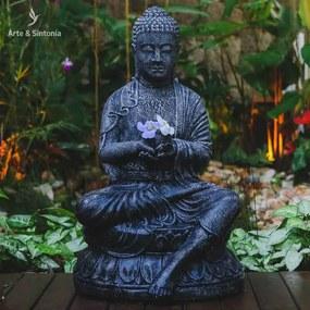 Estátua Buda em Fibrocimento 80cm