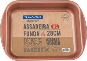 Assadeira funda de alumínio com revestimento internal de antiaderente 28cm - Bakery - Tramontina