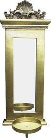 Espelho Clássico Retangular Dourado - 49x18cm
