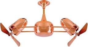 Ventilador De Teto Cobre 127v Sem Iluminacao Duplo Dinamico