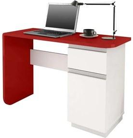 Escrivaninha Branco / Vermelho