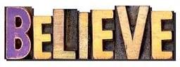 Palavras Letras em Alto Relevo Believe Acredite