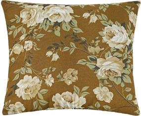 Almofada Decorativa Flores Marrom