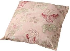 Almofada de Algodão Floral Rosa com Enchimento