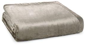 Cobertor Trussardi 100% Microfibra Aveludado Piemontesi - Queen - Marrom