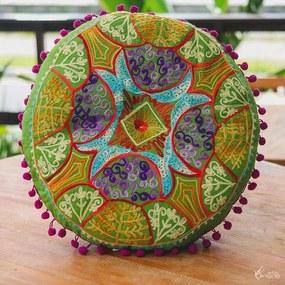 Almofada Redonda p/ Meditação - Verde