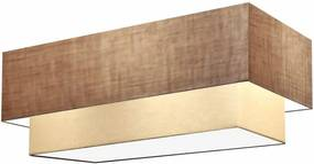Plafon Para Banheiro Retangular SB-3044 Cúpula Cor Palha Bege