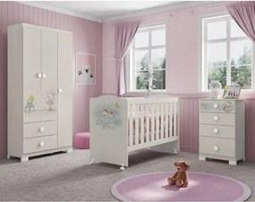 Quarto de Bebê Completo Ursinha Lili - Off White