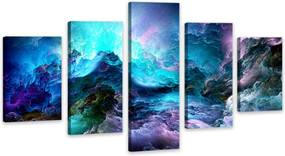 Quadro Oppen House     Nuvens Coloridas Storm Clouds Decorativo Interiores