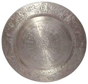 Mandala Prateada em Metal 90cm