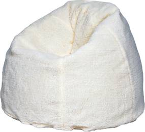 Puff Soft Pelúcia Branco Stay Puff