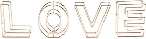 Letras Decorativas Metal Wire Love Cobre 8,0X3,0X9,0 Cm Urban