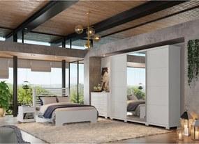 Dormitório Thaís C/ Espelho Branco Madeirado Robel Móveis