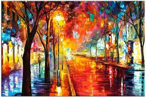 Tela Decorativa Noite Chuvosa Grande Love Decor