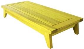 Banco Meditacao Zen com Almofada Estrutura Amarelo 100cm - 61659 Sun House