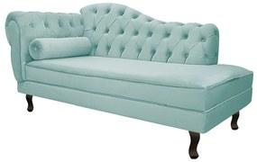 Recamier Diana 160cm Lado Direito Suede Azul Tiffany - ADJ Decor