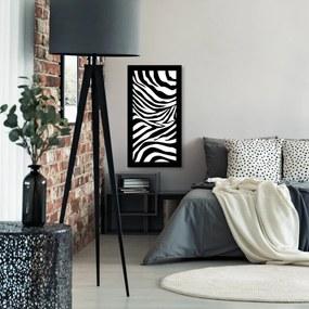 Quadro Alto Relevo Zebra Branco e Preto40x75cm