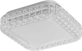 Plafon Led Sobrepor Quadrado Acrílico Branco 12W Luz Branca