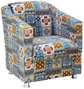 Poltrona Nay Multicoisas Tilla Multicolorido Azul