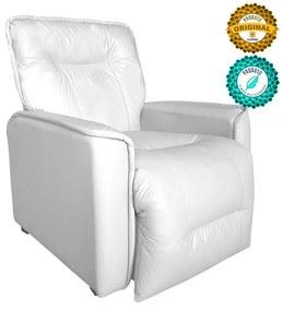 Poltrona do Papai Reclinável Orion Corano Branco - Sheep Estofados - Branco