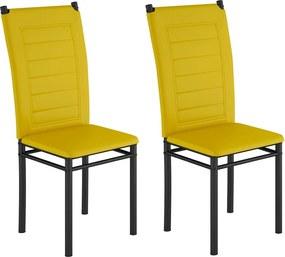 Conjunto 2 Cadeiras Tokio Amarela