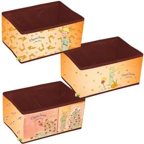 Conjunto de Caixas Organizadoras Vintage O Pequeno Príncipe Bege em PU