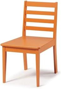 Cadeira Helena em Madeira Maciça  - Laranja