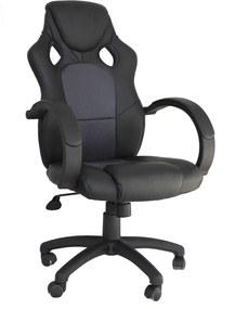 Cadeira Office Racer Preta E Cinza Rivatti Móveis