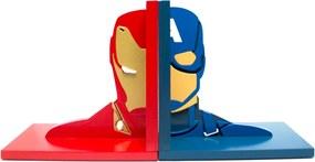 Aparador de Livros Guerra Civil Homem De Ferro e Capitão América Vingadores Marvel FBA