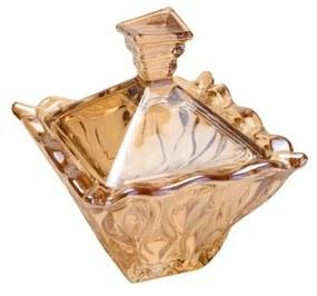 Potiche De Cristal Com Tampa Safir Âmbar 11x12,5cm 26051 Wolff