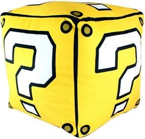Almofada Quadrada Formato Bloco Interrogação Super Mario