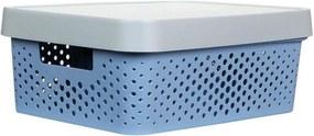 Caixa Organizadora P C/ Tampa - 4,5L - 25,5Cm X 17Cm X 12Cm - Container Blue