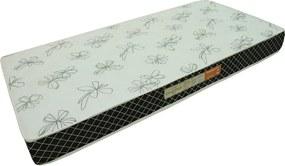 Colchão Espuma Confortex D20 Solteiro 78x188x14 Branco/Preto Plumatex