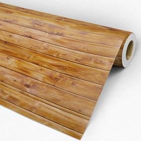 Papel de parede adesivo madeira tábuas amarelas