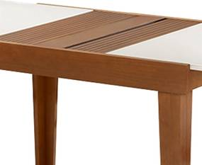 Mesa de Jantar Extensível 110 À 155cm Imbuia / Branco