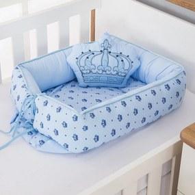 Ninho Redutor de Berço Dôda Baby Imperial Príncipe Azul Bebê 2 Peças