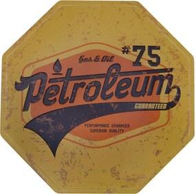Placa Kasa Ideia de Metal Petroleum 30cm