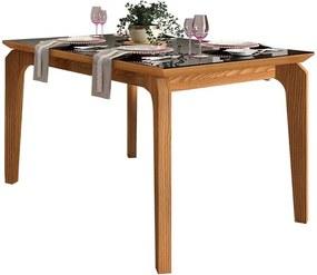 Mesa de Jantar Dália para 4 cadeiras 140cm Carvalho Nobre Preto
