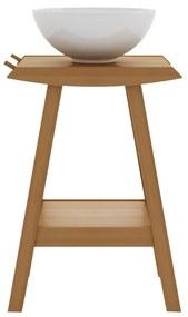 Balcão para Banheiro Borneo com Prateleira Jatobá (Cuba não acompanha o produto) - Wood Prime MR 34635