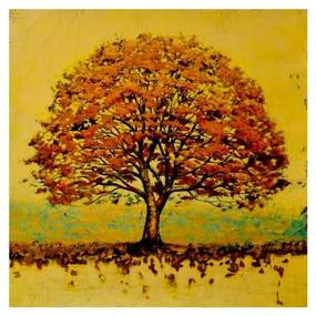Quadro Decorativo Árvore Vintage - KF 50068 30x30 (Moldura 520)