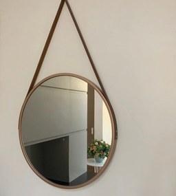 Espelho decorativo redondo rose gold