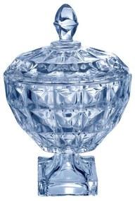 Potiche Decorativo De Cristal Azul 11,5x18cm Diamant 26060 Wolff