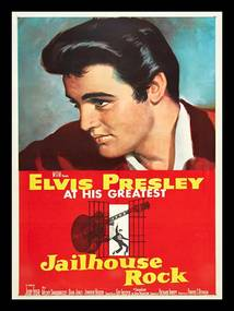 Placa Elvis Presley Jail House Rock Pequena