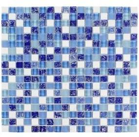 Pastilha de Vidro Gloss Vidro Azul R1598A 30x30cm