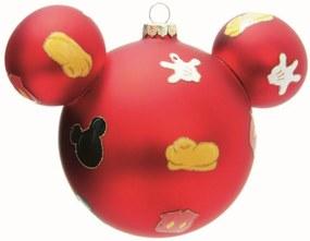Bolas para Arvore Disney Vermelho 10 Cm - 2 Unidades 10 Cm